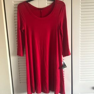 New Red Swing Dress Size Small